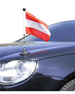 magnetisch haftender Autofahnen-Ständer Diplomat-1 Österreich
