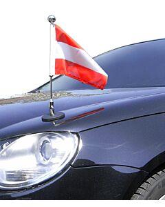 magnetisch haftender Autofahnen-Ständer Diplomat-1.30-Chrome Österreich